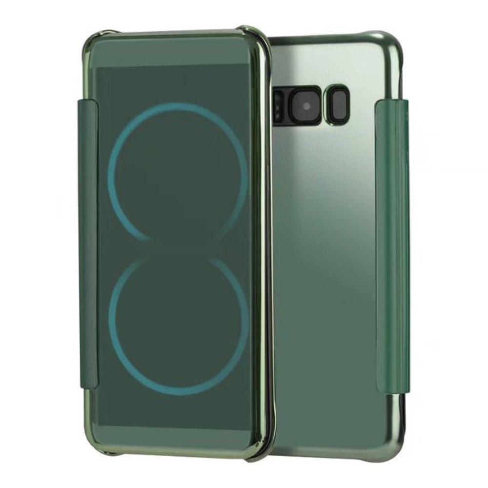 Case for Samsung Galaxy S8 Plus Smart View Leather Cover Mobile Phone - GREEN