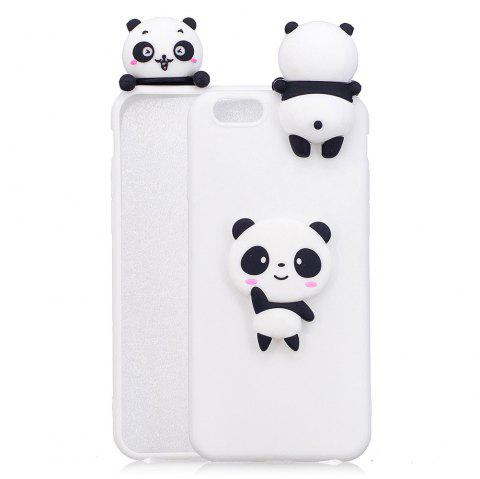 Three-Dimensional Lie Prone Bumpers Case for iPhone 7 Plus / 8 Plus - WHITE