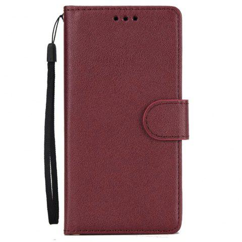 Pure Ribbon Card Bag Picture Frames Mobile Phone Protection Case For One Plus Five - BURGUNDY