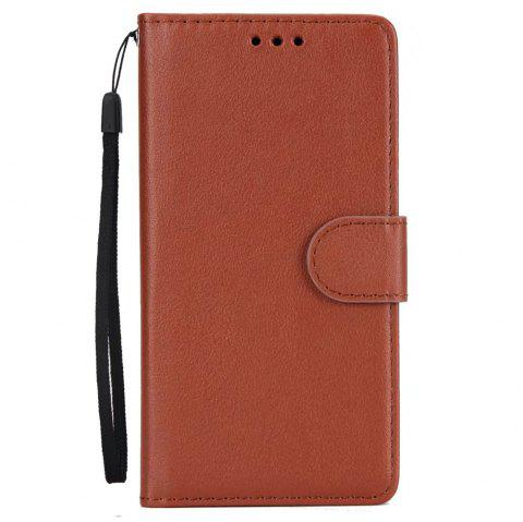 Pure Ribbon Card Bag Picture Frames Mobile Phone Protection Case For One Plus Five - BROWN