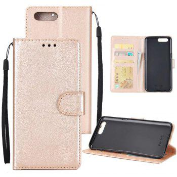 Pure Ribbon Card Bag Picture Frames Mobile Phone Protection Case For One Plus Five - GOLDEN