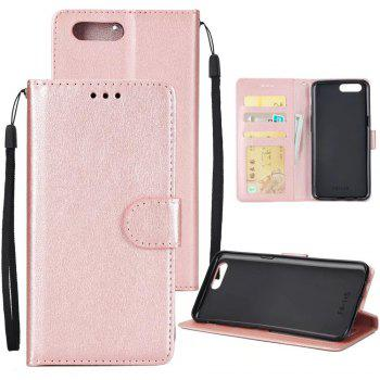 Pure Ribbon Card Bag Picture Frames Mobile Phone Protection Case For One Plus Five - ROSE GOLD