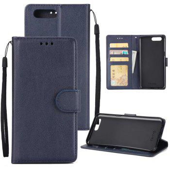 Pure Ribbon Card Bag Picture Frames Mobile Phone Protection Case For One Plus Five - DEEP BLUE