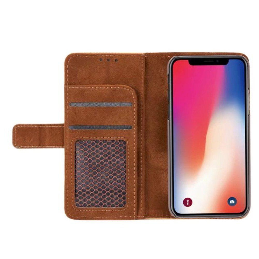 Case For iPhone X Cover Case  Mesh Style Flip Wallet - BLUE