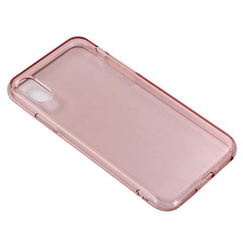 For iPhone X Mobile Phone Protection Shell Color TPU Soft Shell Candy Case - PINK