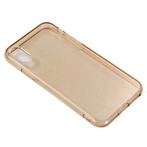 For iPhone X Mobile Phone Protection Shell Color TPU Soft Shell Candy Case - KHAKI