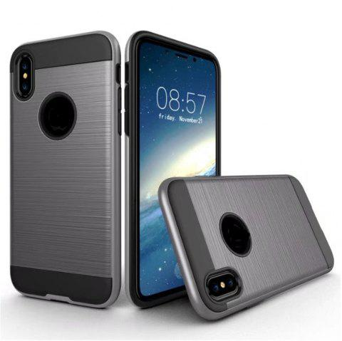 Dual Layer Hybrid Shockproof Cover Slim Armor Provides Complete All-Around Protection for iPhone X Case - GRAY