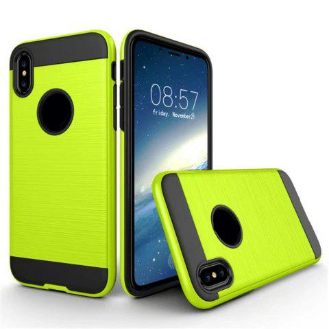 Dual Layer Hybrid Shockproof Cover Slim Armor Provides Complete All-Around Protection for iPhone X Case - GREEN