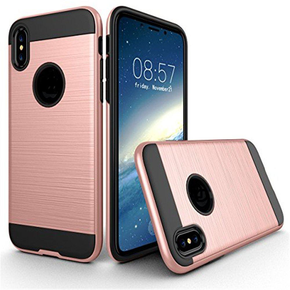 Dual Layer Hybrid Shockproof Cover Slim Armor Provides Complete All-Around Protection for iPhone X Case - ROSE GOLD