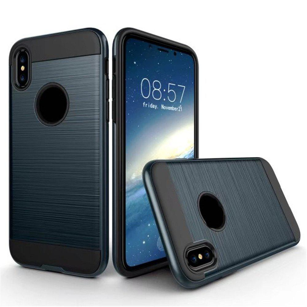 Dual Layer Hybrid Shockproof Cover Slim Armor Provides Complete All-Around Protection for iPhone X Case - ROYAL