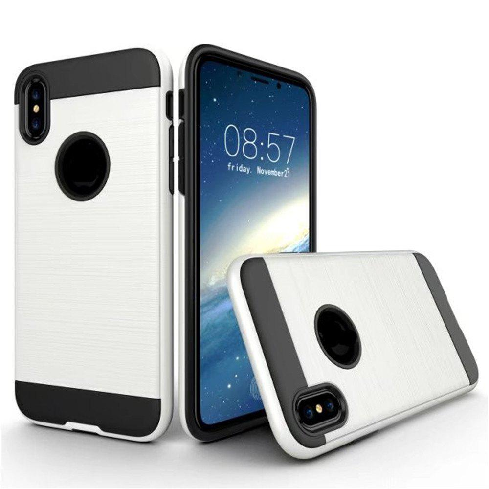 Dual Layer Hybrid Shockproof Cover Slim Armor Provides Complete All-Around Protection for iPhone X Case - WHITE