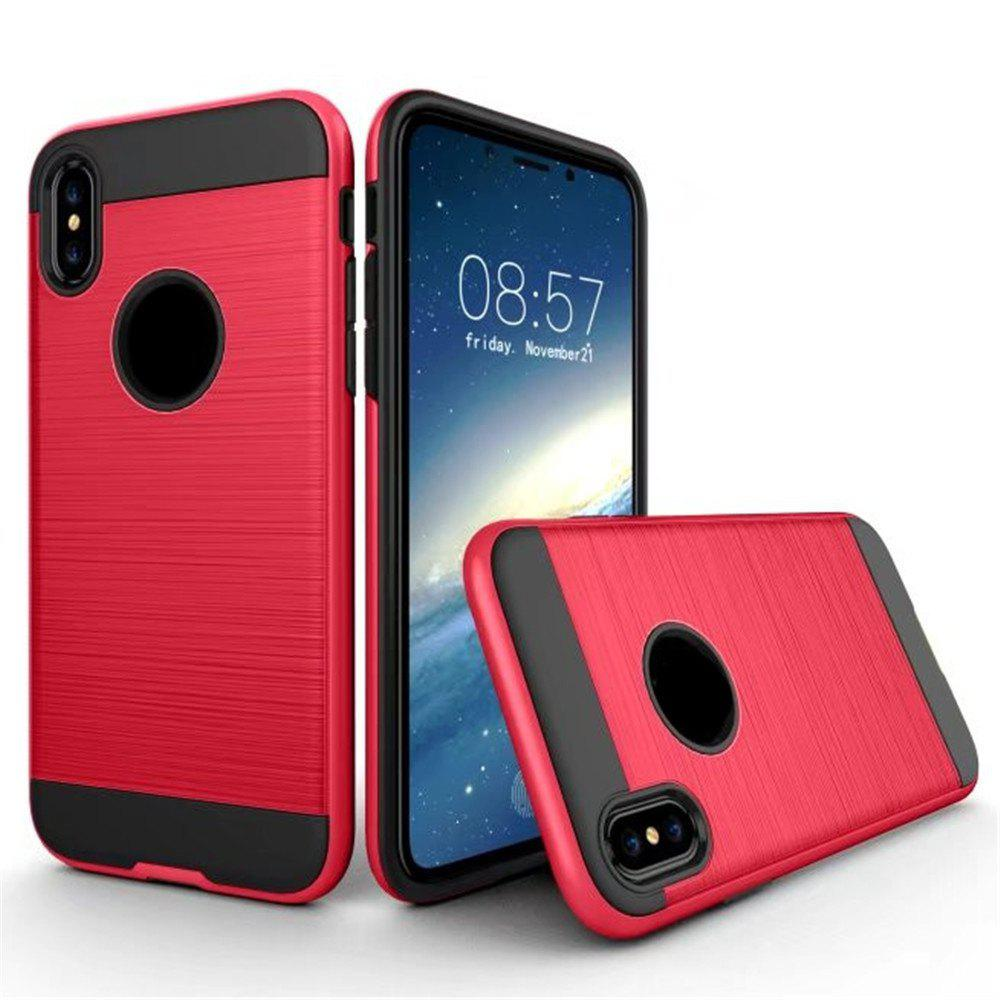 Dual Layer Hybrid Shockproof Cover Slim Armor Provides Complete All-Around Protection for iPhone X Case - RED
