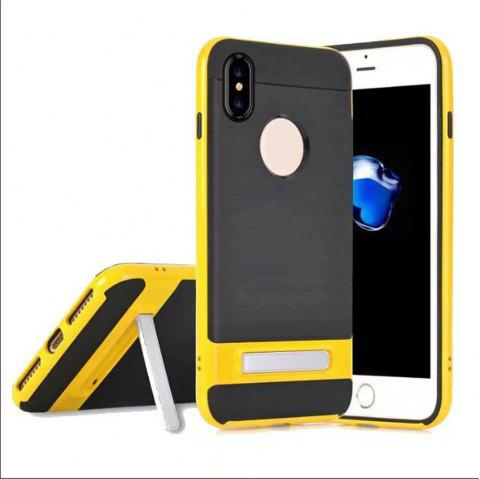 Wire Drawing Bracket Armor TPU+PC Newest Hard Plastic Cover Case For iPhone X - DAISY