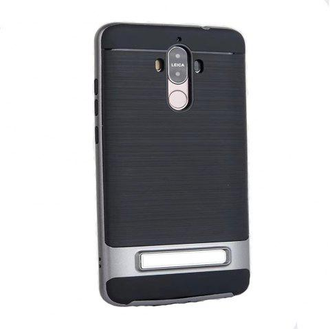 TPU + PC 2 in 1 Phone Ultra Thin Phone Stand Rugged Impact Armor Hybrid Kickstand Cover Case For Huawei Mate 9 - GRAY