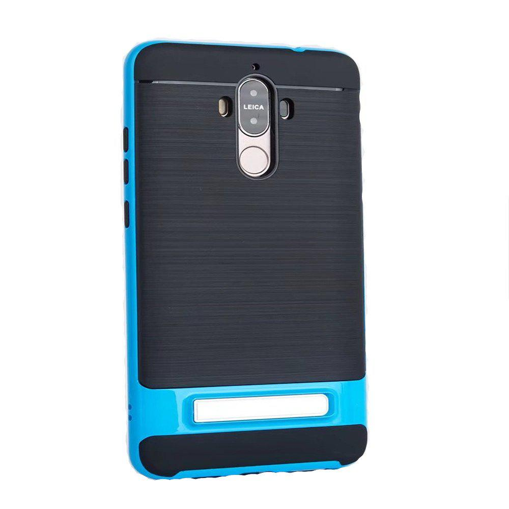 TPU + PC 2 in 1 Phone Ultra Thin Phone Stand Rugged Impact Armor Hybrid Kickstand Cover Case For Huawei Mate 9 - BLUE