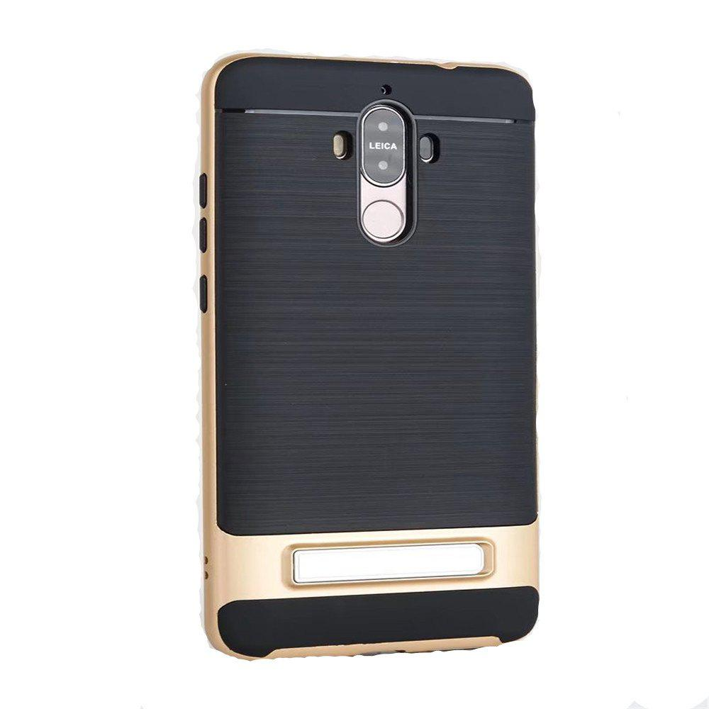 TPU + PC 2 in 1 Phone Ultra Thin Phone Stand Rugged Impact Armor Hybrid Kickstand Cover Case For Huawei Mate 9 - 金色