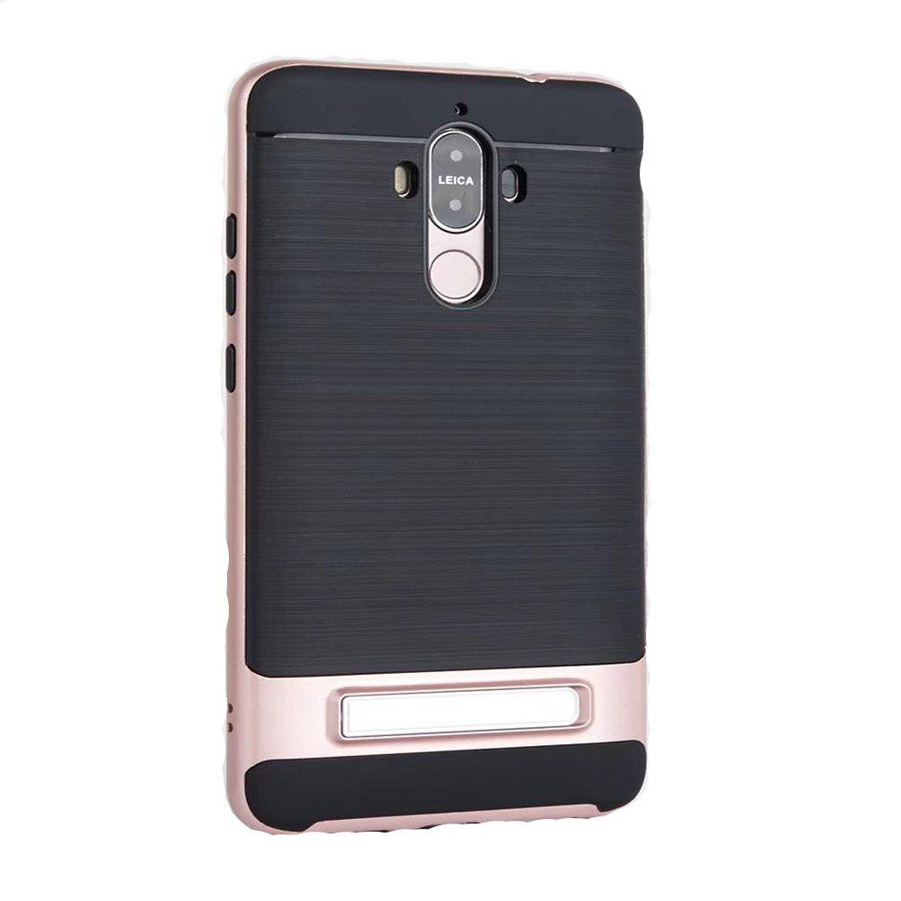 TPU + PC 2 in 1 Phone Ultra Thin Phone Stand Rugged Impact Armor Hybrid Kickstand Cover Case For Huawei Mate 9 - ROSE GOLD