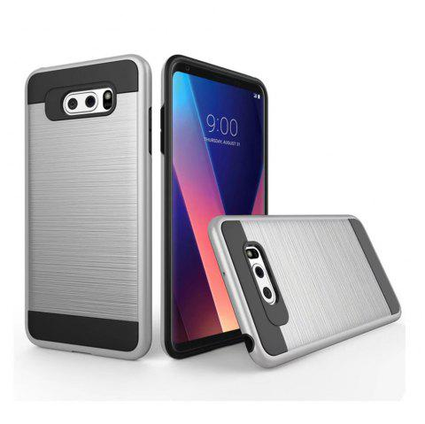 Carbon Dimension Wire Drawing Business Fashion Shock Absorption for LG V30 Case - SILVER