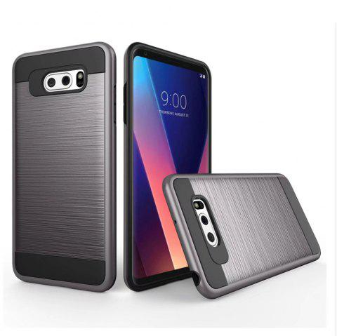 Carbon Dimension Wire Drawing Business Fashion Shock Absorption for LG V30 Case - GRAY