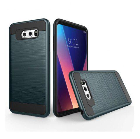 Carbon Dimension Wire Drawing Business Fashion Shock Absorption for LG V30 Case - ROYAL
