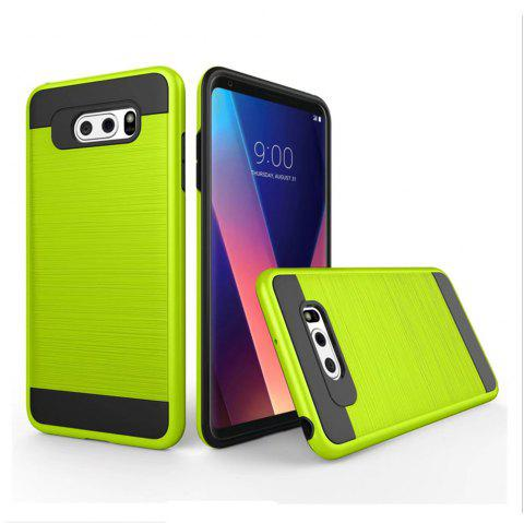 Carbon Dimension Wire Drawing Business Fashion Shock Absorption for LG V30 Case - GREEN