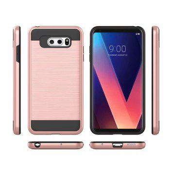 Carbon Dimension Wire Drawing Business Fashion Shock Absorption for LG V30 Case - ROSE GOLD
