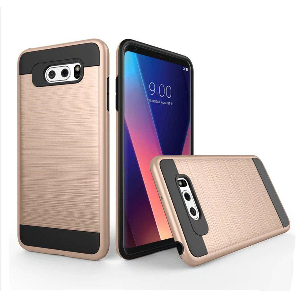 Carbon Dimension Wire Drawing Business Fashion Shock Absorption for LG V30 Case - GOLDEN
