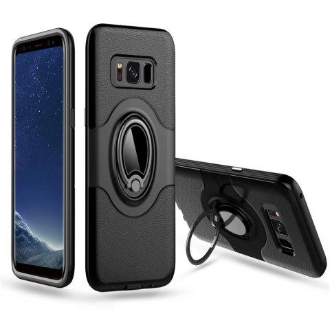 with Shock Absorption Dual Cover Design Phone Ring Holder Anti-scratch Protective  for SamSung Galaxy S8 Case - BLACK