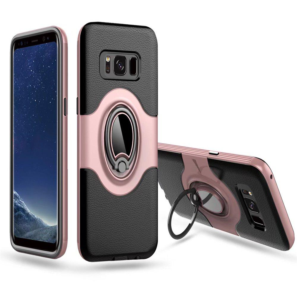 with Shock Absorption Dual Cover Design Phone Ring Holder Anti-scratch Protective  for SamSung Galaxy S8 Case - PINK