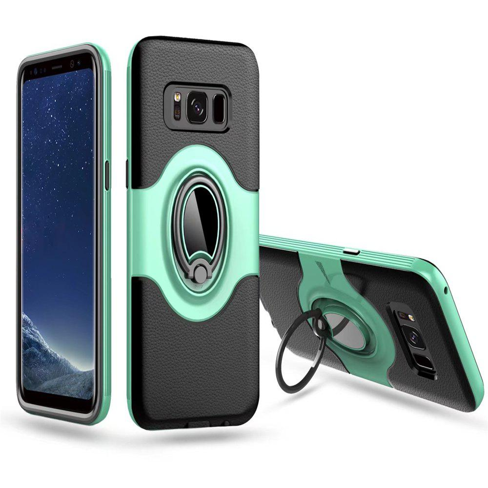 with Shock Absorption Dual Cover Design Phone Ring Holder Anti-scratch Protective  for SamSung Galaxy S8 Case - GREEN