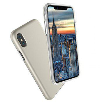 For iPhone X Case Cover Hard PC TPU Hybrid Matte Plain Back  Anti-knock Mobile Phone - GOLDEN