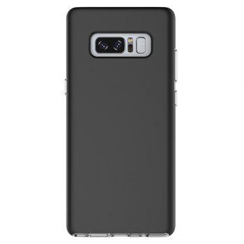 For Samsung Galaxy Note 8 Frosted Back Cover Case Solid Color Hard PC - BLACK