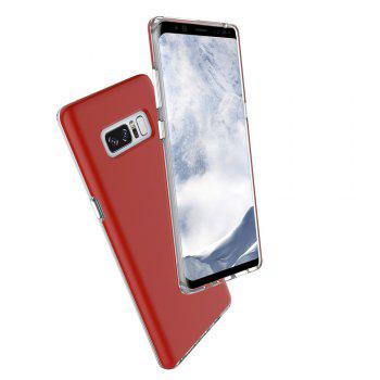 For Samsung Galaxy Note 8 Frosted Back Cover Case Solid Color Hard PC - RED