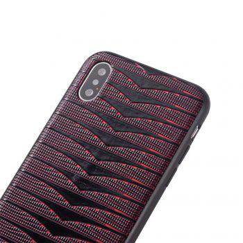Phantom Variable  Model Of PC TPU Leather Triad New Following  for iPhone X Case - PEACH RED