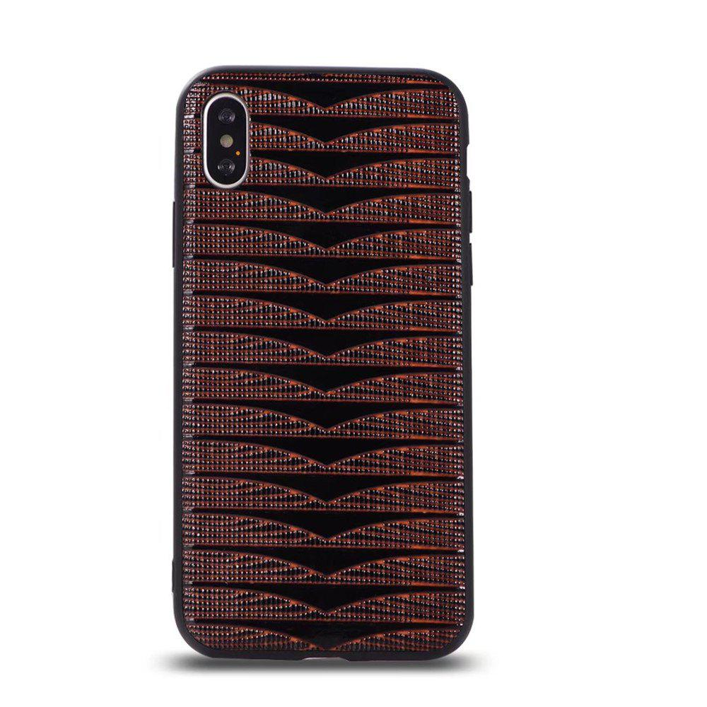Phantom Variable  Model Of PC TPU Leather Triad New Following  for iPhone X Case - BROWN