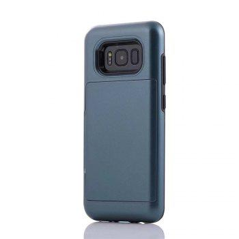 Armour Case for Samsung Galaxy S8 Cover Card Pocket Hard PC Soft TPU Protective Fundas - CERULEAN