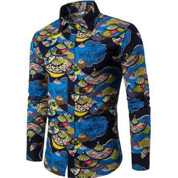 2018 Autumn and Winter New Men\u0027s Long Sleeves Printed Floral Beach Shirts  Night Clubs Shirts BLACK XL In Shirts Online Store. Best Casual Shorts For  Sale ...