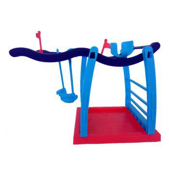 Interactive Jungle Gym Playset Climbing Stand Platform for Monkey - COLORMIX COLORMIX