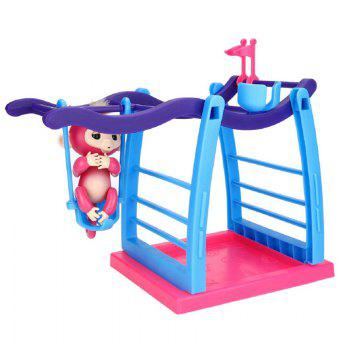 Interactive Jungle Gym Playset Climbing Stand Platform for Monkey -  COLORMIX