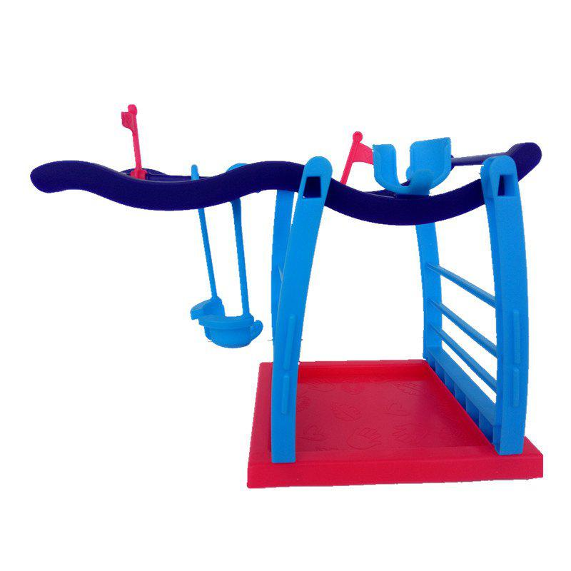 Interactive Jungle Gym Playset Climbing Stand Platform for Monkey jungle gym train module