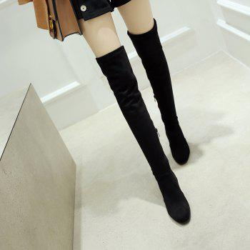 High-heeled Boots Leg Over Knee - BLACK 39