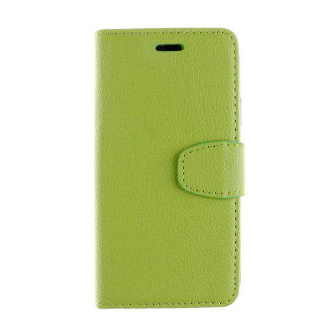 Luxury Litchi Grain Phone Bags Slots Flip Cover PTU Leather Wallet Case for iPhone X - GREEN
