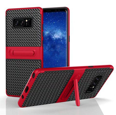 Stents with Full Body Protective and Resilient Shock Absorption Case for Samsung Galaxy Note 8 - RED
