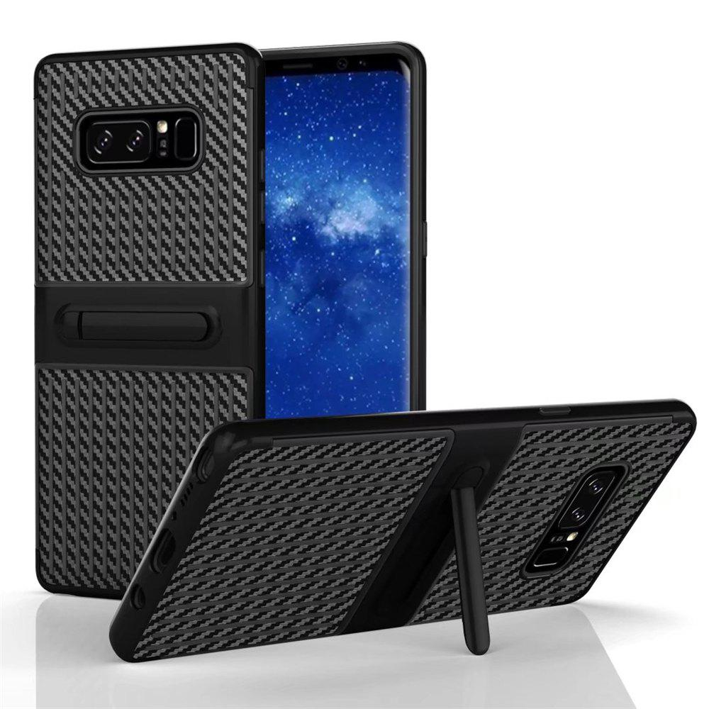 Stents with Full Body Protective and Resilient Shock Absorption Case for Samsung Galaxy Note 8 - BLACK