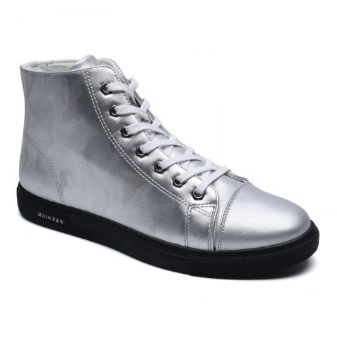 Winter High-Size Large-Size Lace Up Outdoor Sport Men'S Shoes - SILVER 40