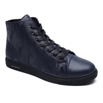 Winter High-Size Large-Size Lace Up Outdoor Sport Men'S Shoes - DEEP BLUE DEEP BLUE
