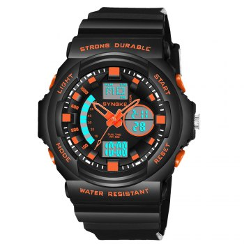 SYNOKE66866Outdoor Climbing Waterproof Electronic Watch Man -  BLACK ORANGE