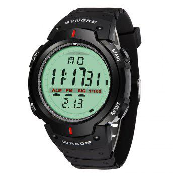 SYNOKE 61576 Sports Men Waterproof Outdoor Watch - BLACK BLACK