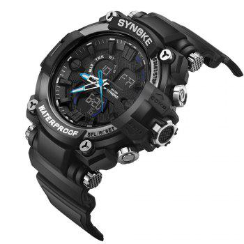 SYNOKE 67356 Men Outdoor Sports Watch - BLACK / BLUE