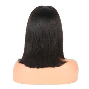 Modern Fairy Human Hair Lace Front Wig Bob Style - BLACK 10INCH